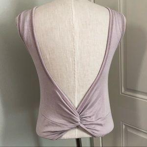 Low back twist knitted Dusty purple tank top